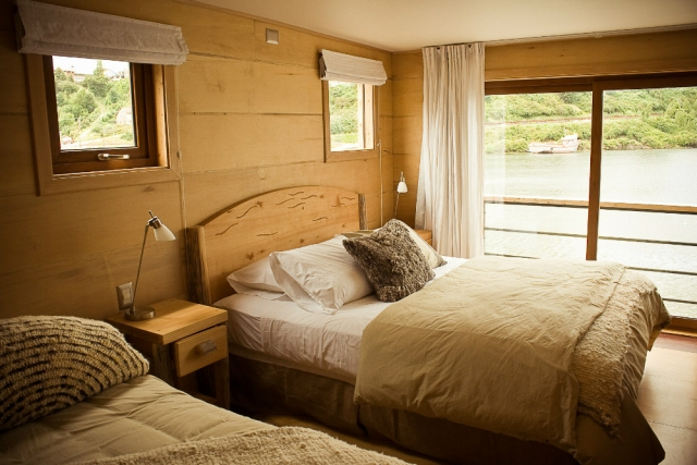 Sábanas, plumones y almohadas en Hotel Palafito, Chiloé