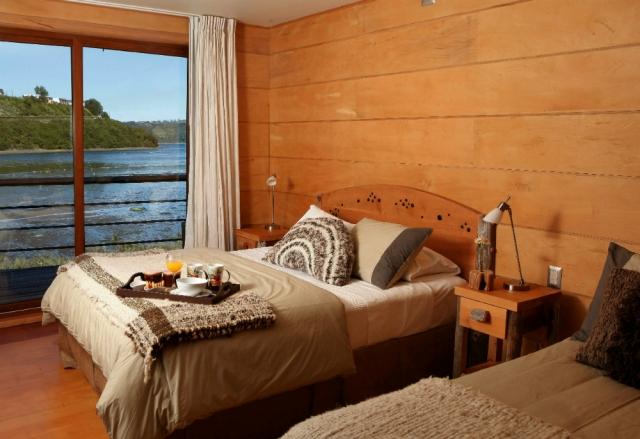 Ropa y accesorios de dormitorio para Hotel Palafito, Chiloé